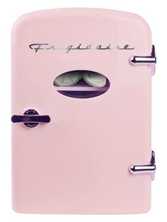 Pink Mini Frigidaire Refrigerator - Retro 6 Can Mini Fridge Pink Mini Fridge, Portable Mini Fridge, Mini Fridge In Bedroom, Casa Disney, Portable Carport, Thermoelectric Cooling, Mini Cooler, Cute Room Decor, Room Ideas Bedroom