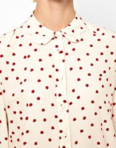 Enlarge Boutique By Jaeger Ladybird Scallop Collar Blouse