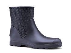 Gucci black rubberized leather guccissima booties - Italian Boutique €238