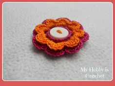 My Hobby Is Crochet: 2 Layered 8 petal thread flower- Free crochet pattern with tutorial