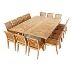 Modular Teak Outdoor Dining Set for 16 People from Westminster Teak Furniture