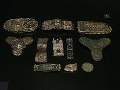 8-10th century Frankish jewelry found in Viking towns.  from Vikings Centraal Museum Utrecht