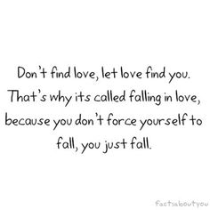 Love ~ let it find you.