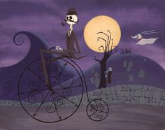 "Nightmare Before Christmas international posters | Jack Returns from Old Timey Town - 14"" x 11"" cel vinyl acrylic on ..."