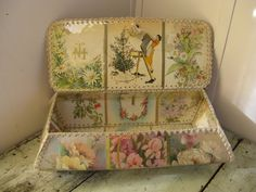 victorian style card basket hand made vintage greeting cards shabby cottage feminine