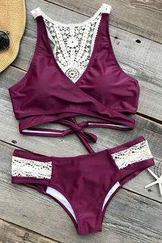 Cupshe Dazzling Sunshine Crochet Bikini Set