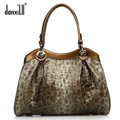 women leather handbags 2014 women's handbag women's bag leopard print fashion cowhide handbag one shoulder bag