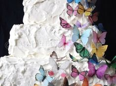 30 Edible Butterflies in All Sorts - Wedding Cake Topper, Wedding Cupcakes, Edible Paper, Cake Supply