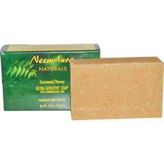 Neemaura Naturals Inc, Ultra-Sensitive Soap, Cornmeal/Honey, 3.30 oz (93 g)