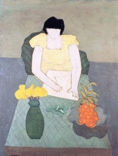 Milton Avery (1885-1965)Girl Drawingoil on canvas 91 x. 71 cm (1951)