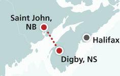 Ferry Schedule Saint John, New Brunswick to Digby, Nova Scotia route New Brunswick, Round Trip, Nova Scotia, East Coast, Maine, Stuff To Do, Saint John, Schedule, Canada
