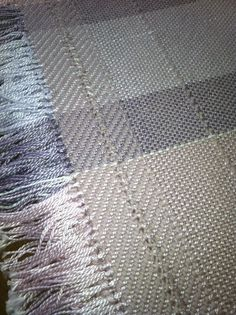 close up view of woven throw
