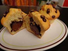Mandise aux pépite de chocolat et son coeur nutella • Hellocoton.fr