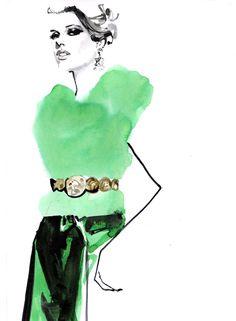 Modeconnect.com - Fashion illustration by Marc-Antoine Coulon
