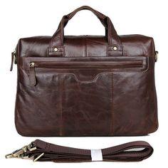 Men Genuine Leather Cowhide Handmade Briefcase Attache Laptop Portfolio Bags #Unbranded #BriefcaseAttache