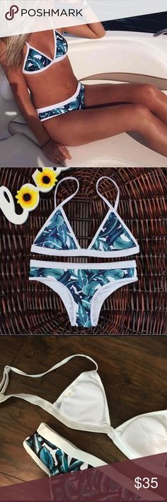 Leafy Bikini Set Brand new Never been worn If you have any questions let me know :) tags: lululemon pacsun forever 21 acacia ripcurl billabong roxy victorias secret nike triangl swimsuit swimwear Bikini Swim Bikinis