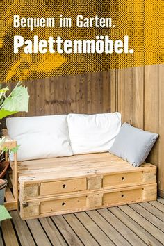 Make yourself beautiful. Pallet furniture and many different pots. So your ba … - New Diy Balcony Pallet Furniture, Outdoor Furniture, Outdoor Sofa, Outdoor Decor, Makes You Beautiful, Balcony Garden, Cozy, Make It Yourself, Inspiration