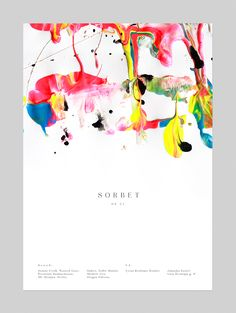 "Vivid and fresh poster created for a summer ending party called ""Sorbet"""