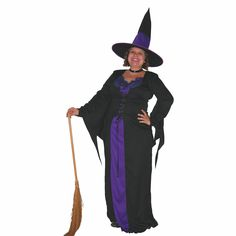 Plus Size Wicked Witch Women's Halloween Fancy Dress Costume  #Sweida #CompleteCostume #FullOutfit