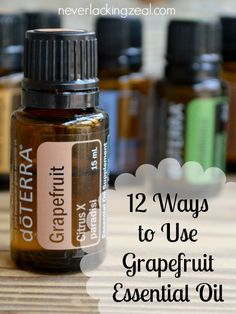 12 Ways to Use Grapefruit Essential Oil - Grapefruit essential oil is so useful! There are multiple ways it can benefit your life. Health, memory, energy. It's a mom's best friend!