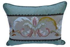 Pillow w/ Antique Italian Embroidery