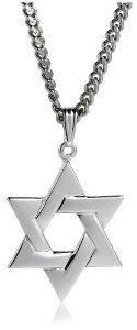 #9: Men's Sterling Silver Star of David Pendant, 24