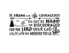 Be strong and courageous, Nautical, Explorer Nursery, arrows, lighthouse, Vinyl wall decal Nursery Waves and boat Joshua 1:9 JOS1V9-0034 by WildEyesSigns on Etsy