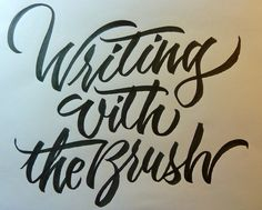 witing with the brush by Barbara Calzolari, via Flickr