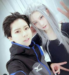 Long hair Victor is a gift from heavens bless Yuri on ice!  Victor Nikiforov and Yuri Katsuki  #cosplay #yurionice #victornikiforov #katsukiyuuri #victuuri #yurikatsuki #yuriplisetsky #yuriplisetskyxotabekaltin #otabekxyurio #otabek #yurikatsuki #yurio #gumball #yuri #yurabek #animeboy