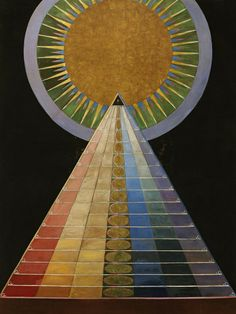 Hilma af Klint. Altarpiece, No. 1, Group X, The Dove, No. 3, Group IX, The Swan, No. 17, Group IX (top to bottom). 1913-1915. Hilma af Klint (1862-1944) was a pioneer of art that turned away from visible reality. By 1906, she had developed an abstract imagery. This was several years before Wassily Kandinsky (1866-1944), Piet Mondrian (1872-1944) and Kazimir Malevich (1878-1935), who are still regarded as the pioneers of abstract 20th-century art. Hilma af Klint assumed that there was a…