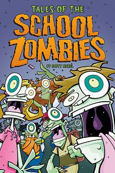 Tales of the School Zombies by Scott Nickel. For ages 8-10. Homework, field trips, and summer school. Oh yeah, and zombies! Trevor's boring school days are over when zombies arrive. It looks like Trevor has more than just summer school and homework to worry about in these for zombie adventures!