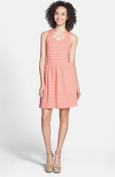This dress is available at nordstrom old orchard.  Might be good for Melissa.   Frenchi® Knit Racerback Skater Dress (Juniors) | Nordstrom