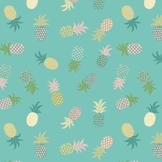 Pineapples on Turquoise Tropical Cotton Fabric Tropicana Collection by Lewis and Irene per fat quarter and per metre by LovelyJubblyFabrics on Etsy https://www.etsy.com/listing/295328973/pineapples-on-turquoise-tropical-cotton