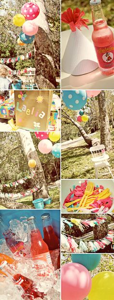 This is quite the first birthday party. Vintage pinwheels! Too cute!