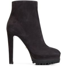 Sergio Rossi Platform Ankle Boots (1,575 BAM) ❤ liked on Polyvore featuring shoes, boots, ankle booties, grey, grey bootie, platform booties, bootie boots, gray booties and short boots