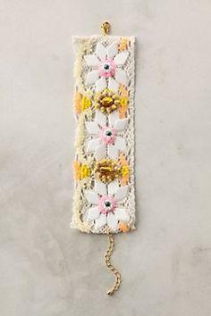 Lovely embroidered bracelet