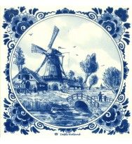 Product not found! Delft Tiles, Blue Tiles, Blue And White China, Blue China, Windmill Tattoo, Azulejos Art Nouveau, Holland Windmills, Blue Tattoo, Blue Pottery