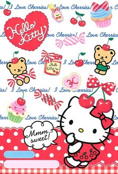 Hello kitty Hello Kitty Drawing, Hello Kitty Art, Hello Kitty Themes, Hello Kitty Pictures, Hello Hello, Sanrio Wallpaper, Wallpaper Iphone Cute, Cute Wallpapers, Hello Kitty Backgrounds
