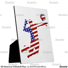 All-American Volleyball Player Plaque  by #RedWhiteAndBlue1 #sports4you #Gravityx9