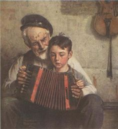 Norman Rockwell Music Lesson.