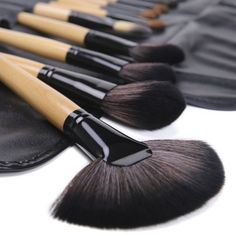 Emylike makeup Brushes Studio Quality 32 Pcs Black Rod Makeup Brush Cosmetic Set Kit withLeather Roll Pouch  For Eye Shadow Blush Concealer Etc Natural -- To view further for this item, visit the image link.