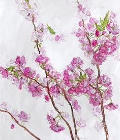 Beatrix Potter, Silk Painting, Framed Art Prints, Magnolia, Watercolour, Canvas Art, Desk, Purple, Gallery