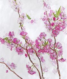 Purple Blossom (JT02) Floral Art Print by Jess Trotman http://www.thewhistlefish.com/product/jt02f-purple-blossom-framed-art-print-by-jess-trotman