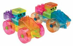 Alex Toys Prism Bricks by Alex. $22.56. Building activities inspire imagination and construction skills. Comes in a convenient, reusable storage jar. Blocks come in assorted transparent colors. Includes a base top to which children can build upon. Set includes 50 Prism Bricks. From the Manufacturer                Alex Prism Bricks is the only series of transparent building bricks that radiate color when light passes through them. This set includes 50 big and chunky ra...
