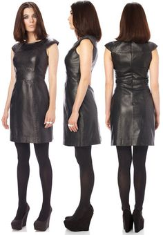 French Connection Navajoe Leather Dress