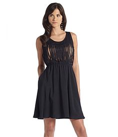 Navy Dress w/tan underlay (Gianni Bini) $108