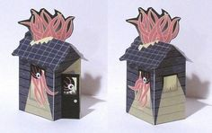 Tektonten Papercraft - Free Papercraft, Paper Models and Paper Toys: House of Chtulhu Papertoy