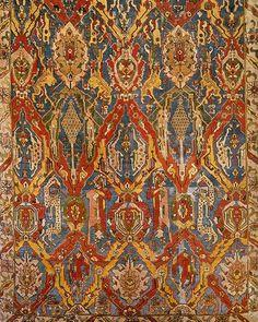Caucasian 'Dragon' carpet, prob. 15 century Museum für Islamische Kunst, Berlin #dragoncarpet #geometricabstraction #zooparadise #dancingcolors