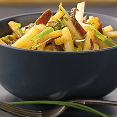 Sweet and sour fried potatoes recipe
