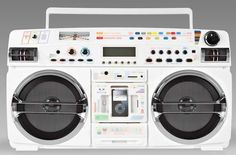 Lasonic's 931X. An 80s-style Boom Box with a touch of Fisher Price.